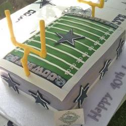 Fondant Football Field Includes 2 Field Goals, 2 End zone Team Names, 4 Icing Image Helmets, 2 Icing Images Green for Field,Yard Numbers